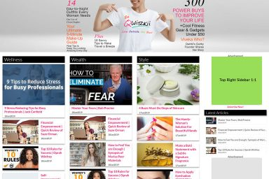 Top Right Sidebar Ad Layout