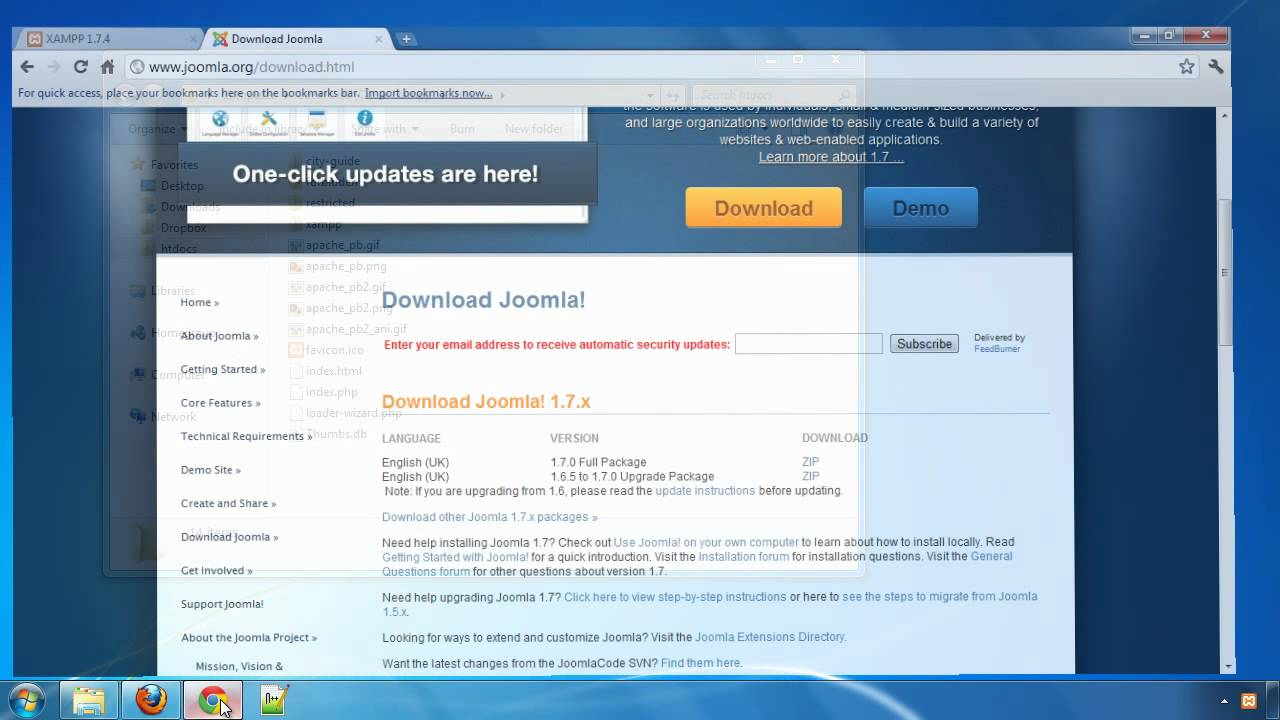 Building a City Guide website with JReviews - Part 1: Installing Joomla