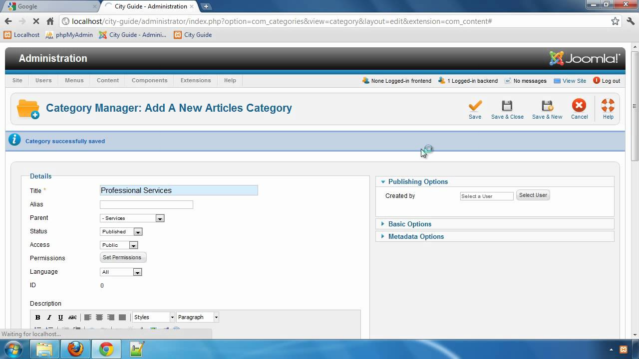 Building a City Guide website with JReviews - Part 4: Creating Joomla Categories