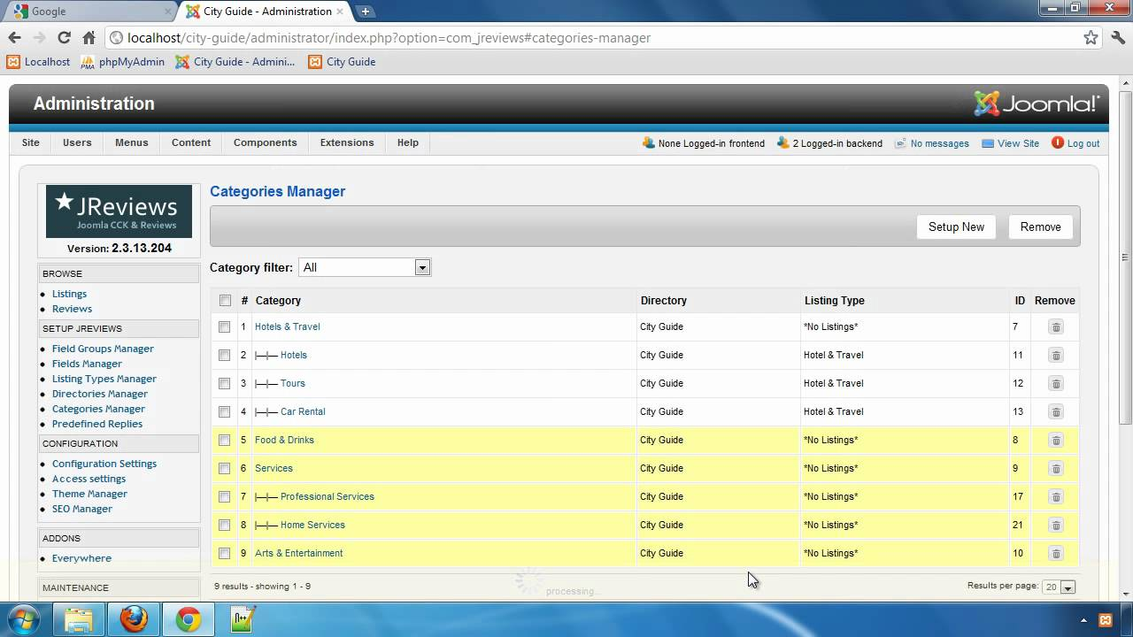 Building a City Guide website with JReviews - Part 7: Setting up Directories & Categories